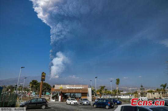 Mount Etna spews ash into sky after eruptions