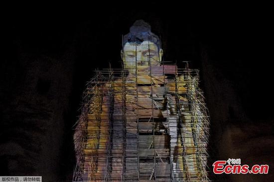 3D返回Bamiyan Buddha 20年前在阿富汗摧毁
