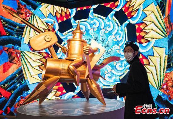 着名艺术家在北京展出的作品