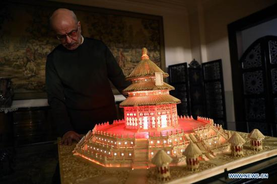 Egyptian builds China's Temple of Heaven with 22,000 matchsticks