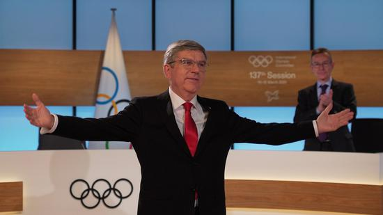 Bach re-elected as International Olympic Committee president
