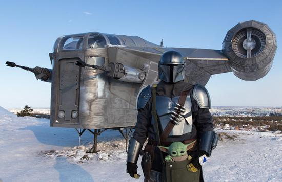 Star Wars fan builds 'Mandalorian' spaceship