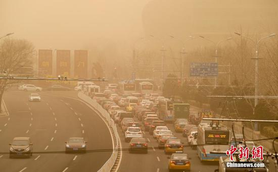Dust blown back to Beijing, causing lingering pollution