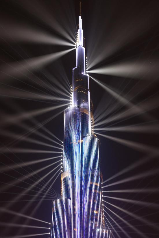 Light show in Dubai