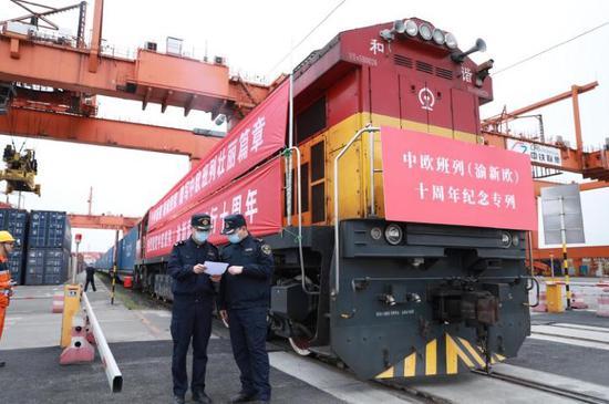 Train from Chongqing marks European anniversary