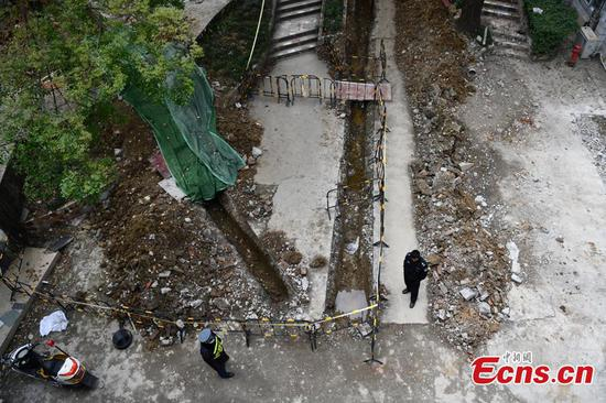 Ancient tomb discovered at Sichuan Normal University