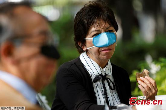 墨西哥研究人员设计鼻涕的Covid-19面具,用于进食和饮用