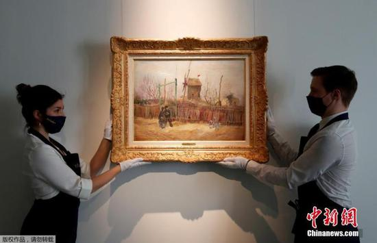 Unseen Van Gogh initially sold for 13m euros at Sotheby's Paris