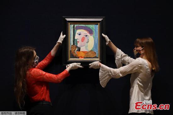 40年的毕加索肖像在伦敦展示