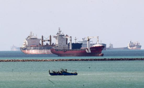 113 container ships transit Suez Canal after Ever Given re-floated