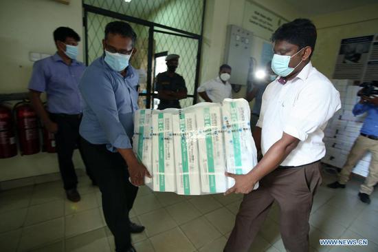 Sri Lanka receives batch of China's Sinopharm vaccines