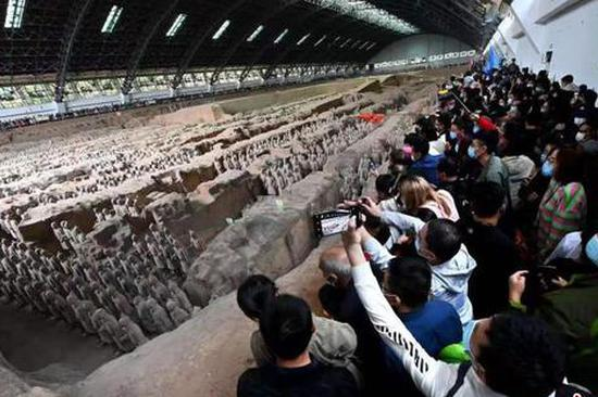 Museum hosting Terracotta Warriors sees nearly 100,000 visitors during holiday