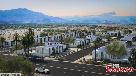 World's first community of 3D-printed homes built in California