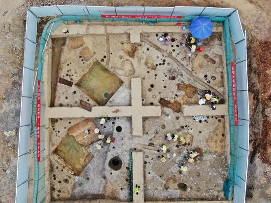44 tombs found at Jinlan Temple site in Guangzhou