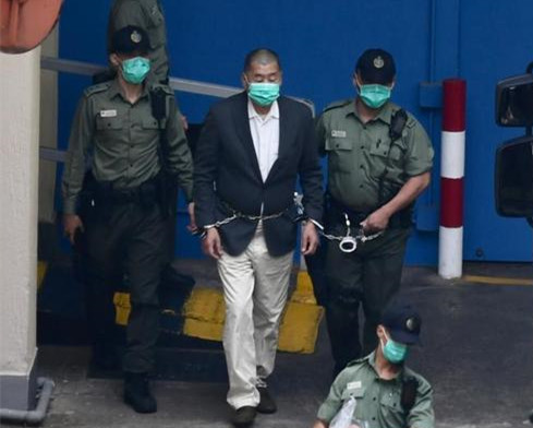 Jimmy Lai sentenced to 14 months in jail for illegal assembly