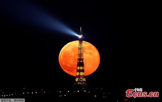 'Pink' supermoon lights up night sky across the world