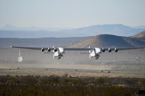 World's largest plane, a launchpad for hypersonic travel, takes flight again