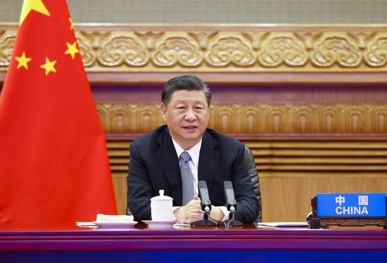 At the invitation of US President Joe Biden, Chinese President Xi Jinping attends the Leaders Summit on Climate via video link and delivers an important speech titled