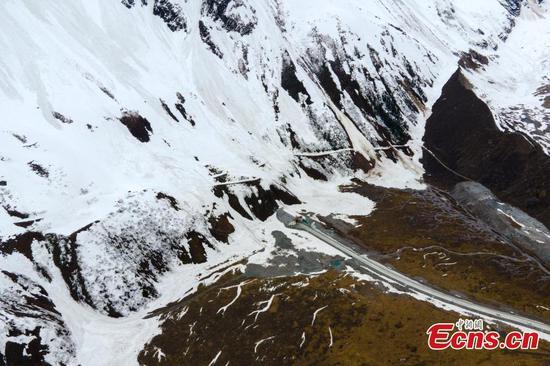 Landscape of Medog Highway in Tibet