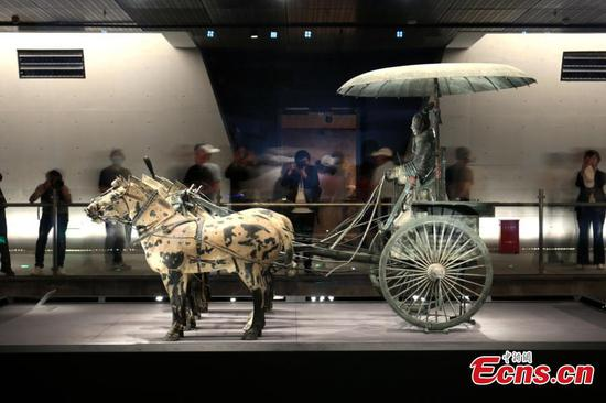 Bronze Chariots Museum of the Qinshihuang's Mausoleum opens to public for trial run