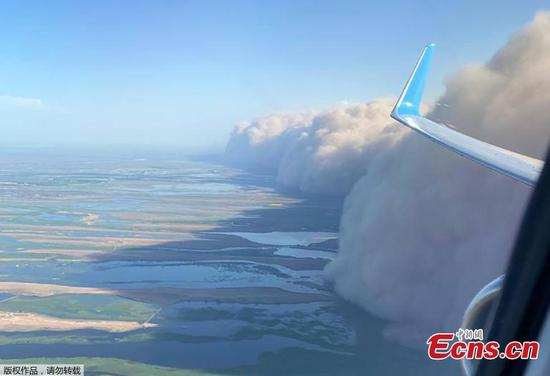 Dust storm hits Astrakhan in Russia