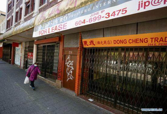 Businesses in Vancouver's Chinatown suffer from COVID-19 pandemic