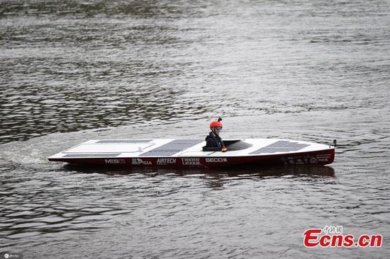 Polish students develop zero-emission solar racing boat