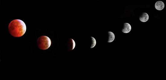 Super Blood Moon lights up night skies across Asia-Pacific