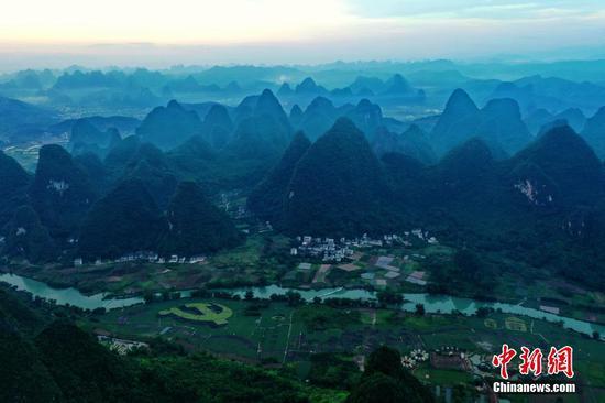 Paddy field landscape in Guilin splendid