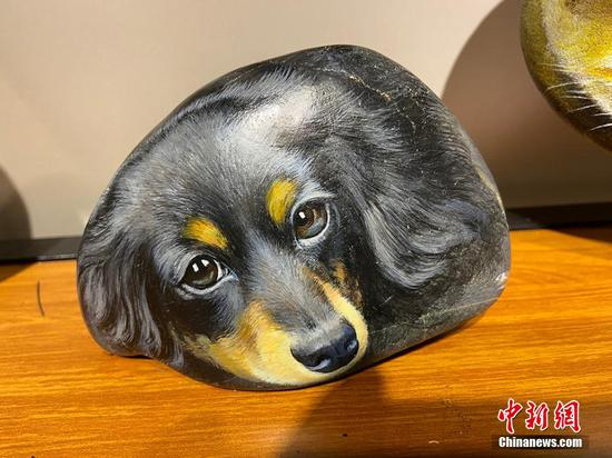3D painting vivifies Yellow River stones