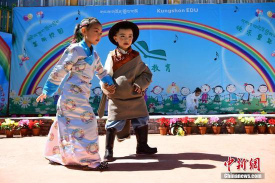 Kids in Lhasa celebrate Children's Day