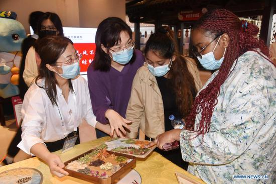 Int'l students learn about TCM at 2nd Global Health Expo of Boao Forum for Asia