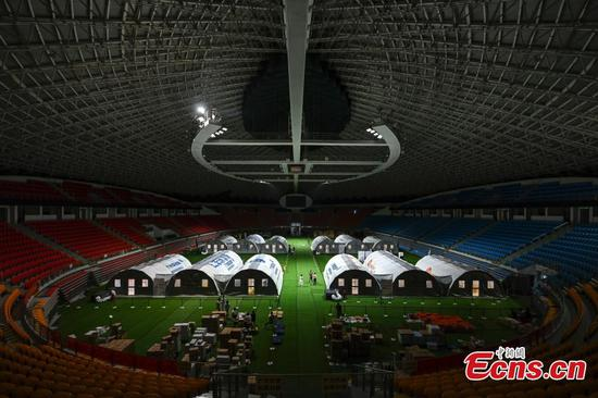 Four groups of air-inflated COVID-19 test labs put into use in Guangzhou