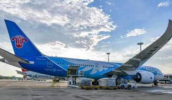 Milan-Haikou cargo flight takes to the skies