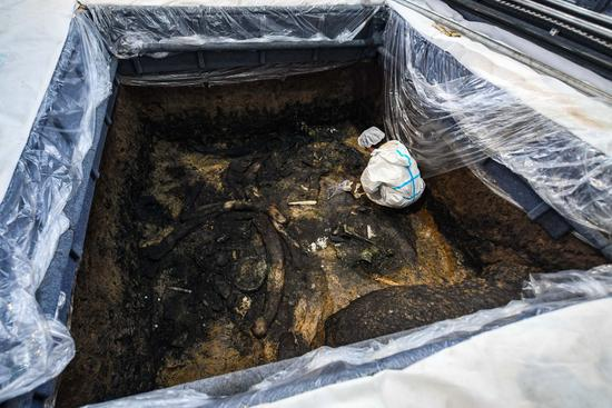 Remains of 4,500-year-old bamboo-mud cabin found in China