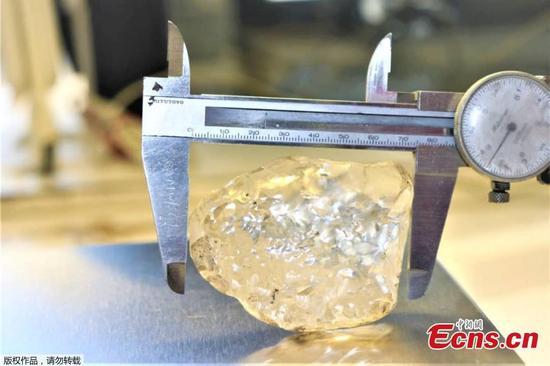 1,098 carat diamond mined in Botswana