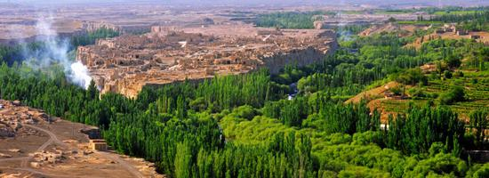 A view of the Ancient City of Jiaohe in Turpan, Xinjiang. (Photo provided to China Daily)
