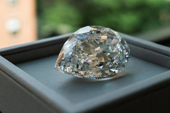 Rare 100+ carat diamond on display at Sotheby's in NYC