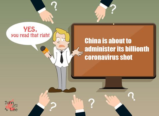 China is about to administer its billionth coronavirus shot (Picture by Yao Lan)