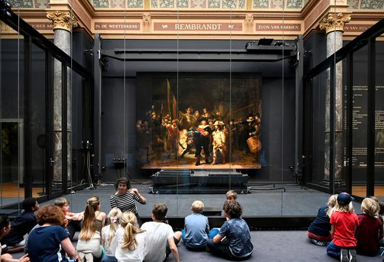Rembrandt's 'Night Watch' on display after restored by AI