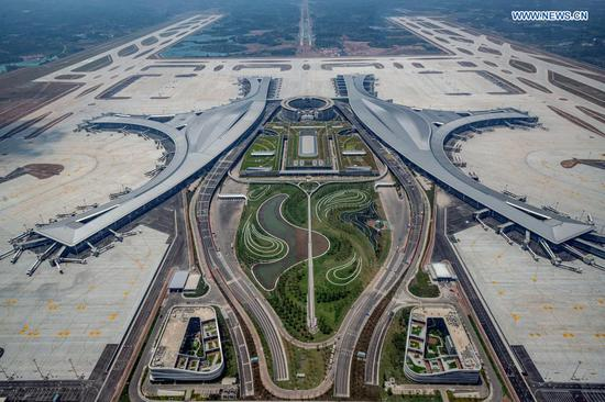 New airport opens to flights in China's Chengdu