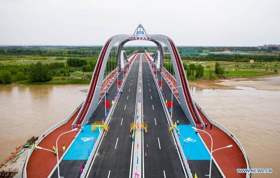 Weimin Yellow River Bridge put into use in NW China's Ningxia