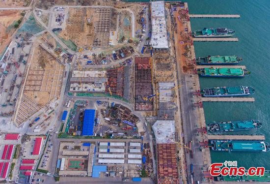 Major project of Hainan Free Trade Port under construction