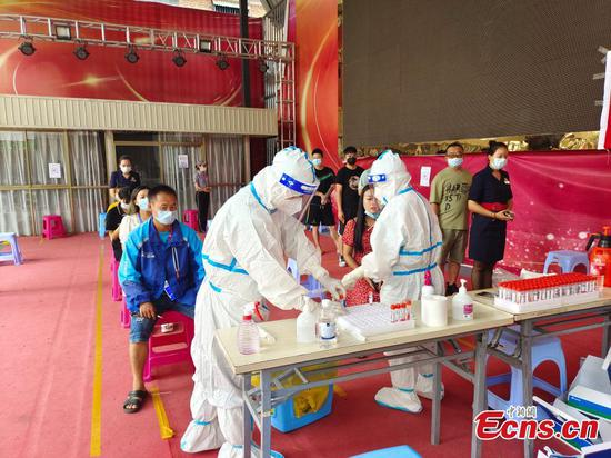 Ruili in Yunnan Province launches COVID-19 testing campaigns
