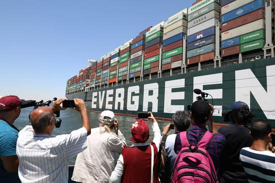 Ever Given leaves Suez Canal after settlement contract signed
