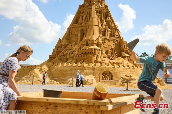 Tallest sand sculpture in Denmark breaks world record