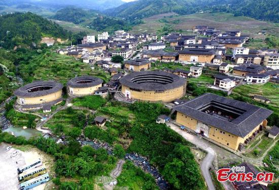 Magnificent view of Fujian Tulou in Fujian