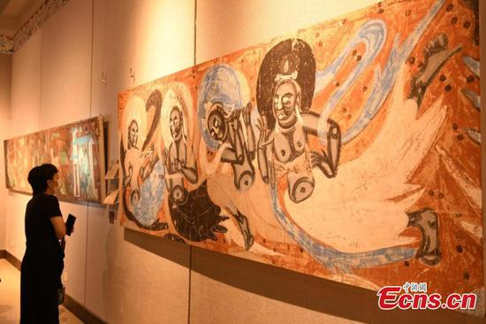 Dunhuang fresco artworks debut in Chongqing for first time