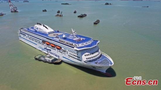 Ro-ro passenger ship built by China for Algeria sets sail