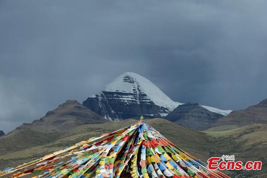 Magnificent scenery of Mount Kangrinboqe in SW China's Tibet